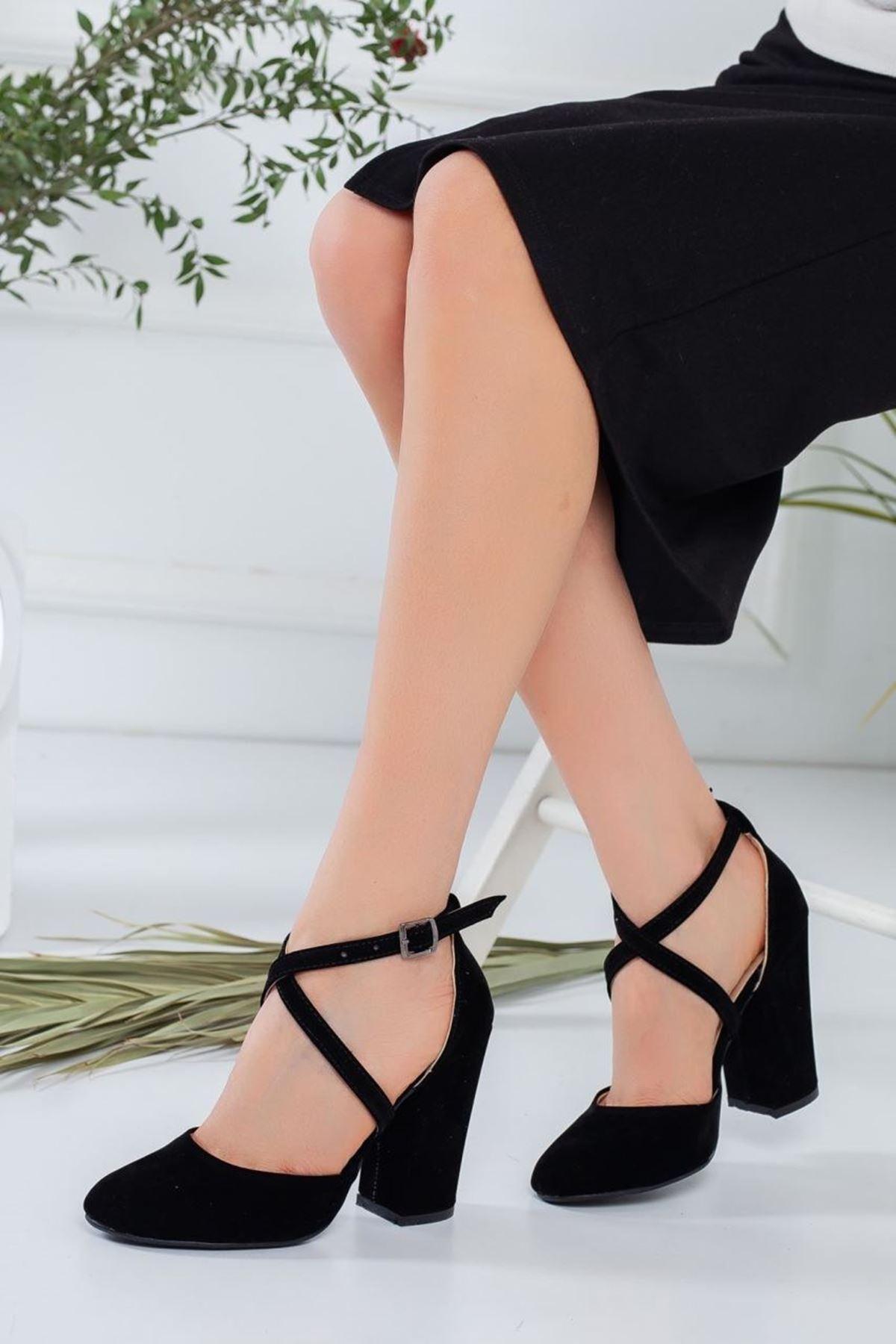 Kadın Zine Siyah Topuklu Ayakkabı