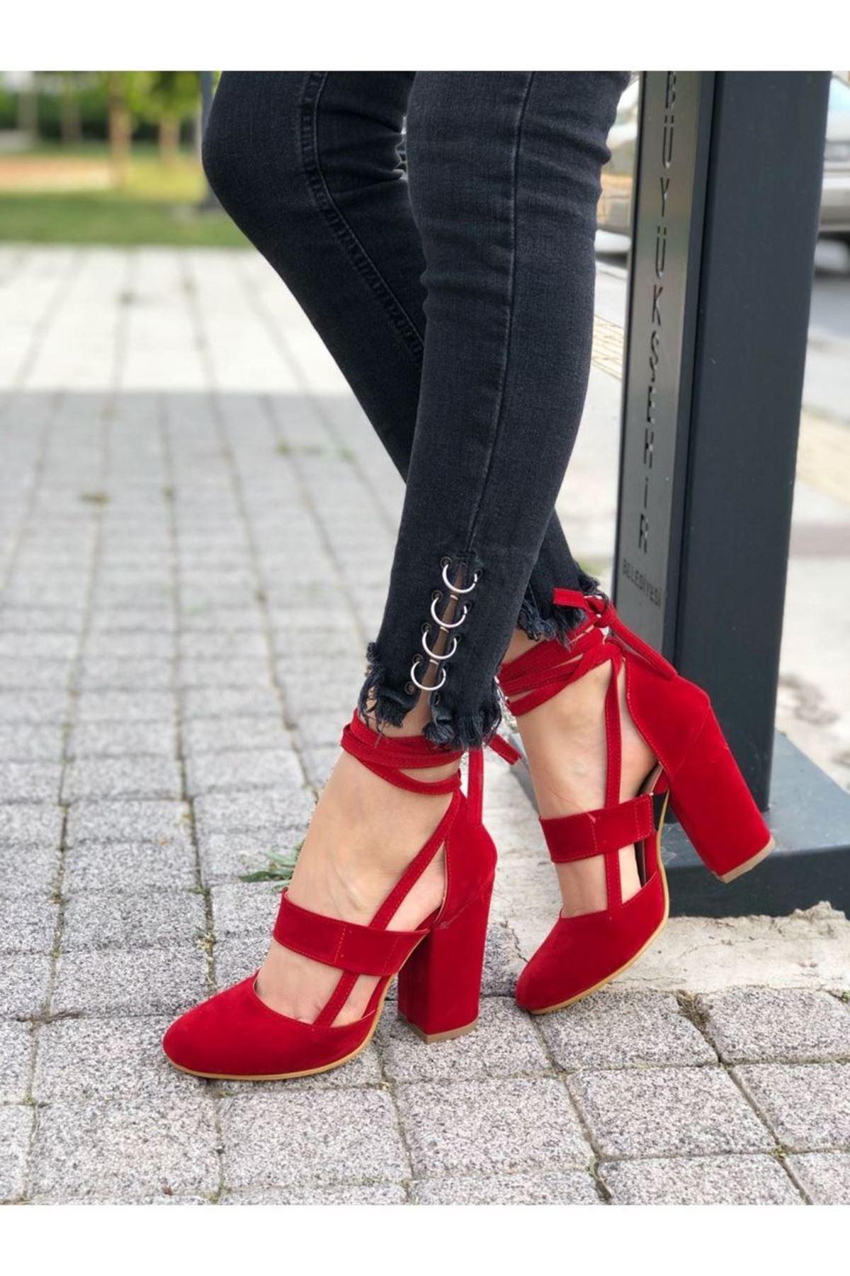 Kadın Priam Kırmızı Topuklu Ayakkabı