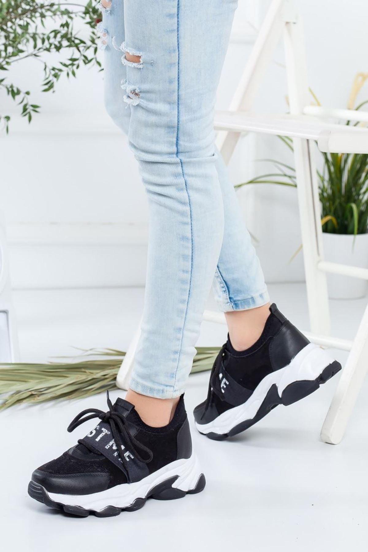 Kadın Phebe Siyah Sneakers Ayakkabı