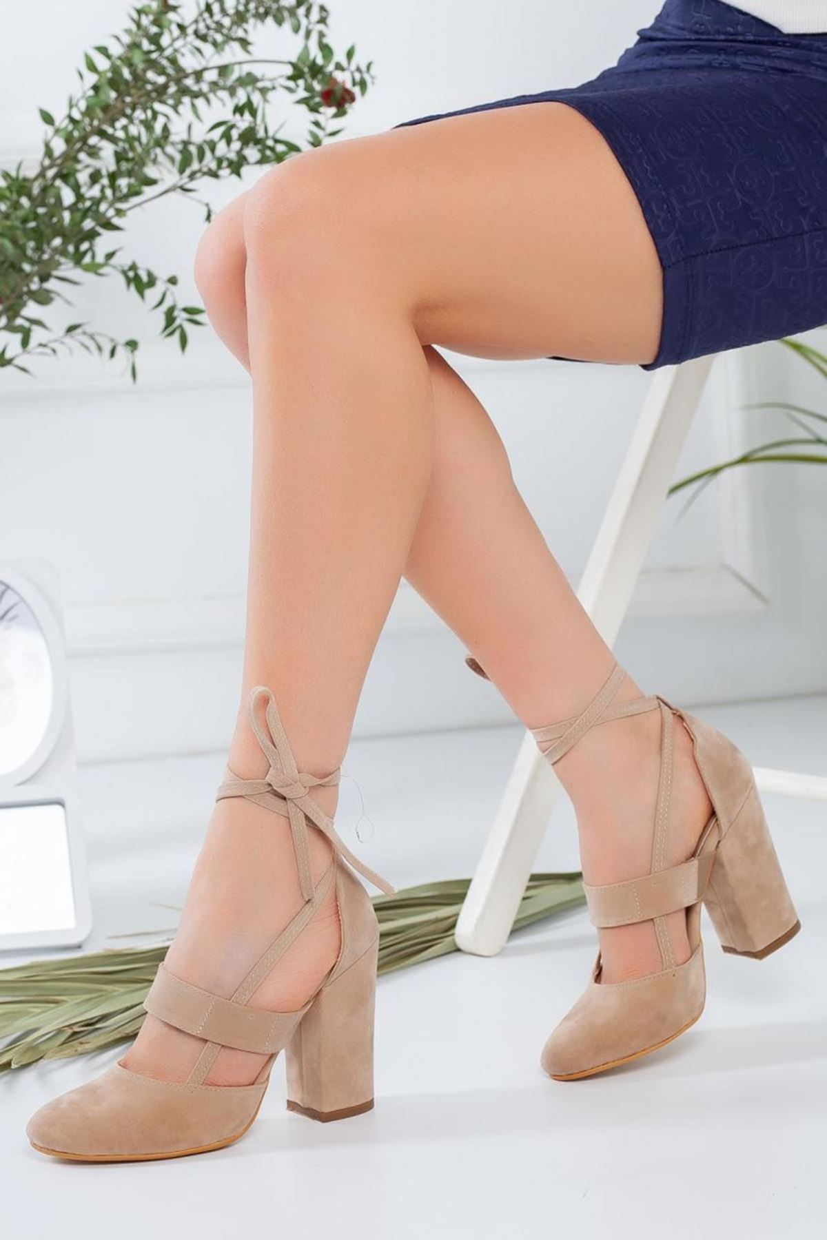 Kadın Priam Bej Topuklu Ayakkabı