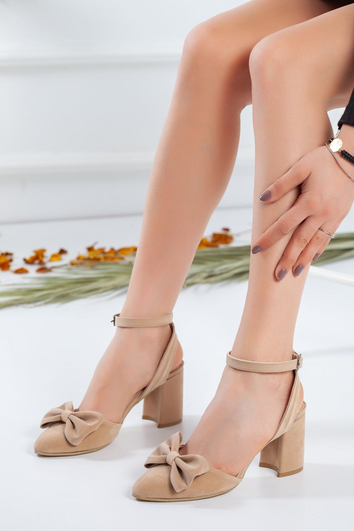 Kadın Hilemo Topuklu Hasır Ayakkabı
