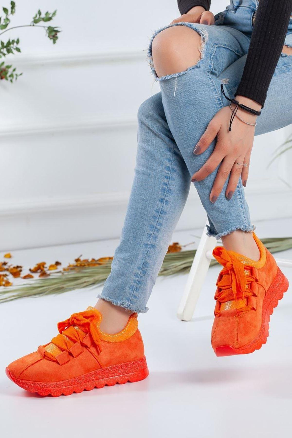 Kadın Sanio Spor Ayakkabı Turuncu