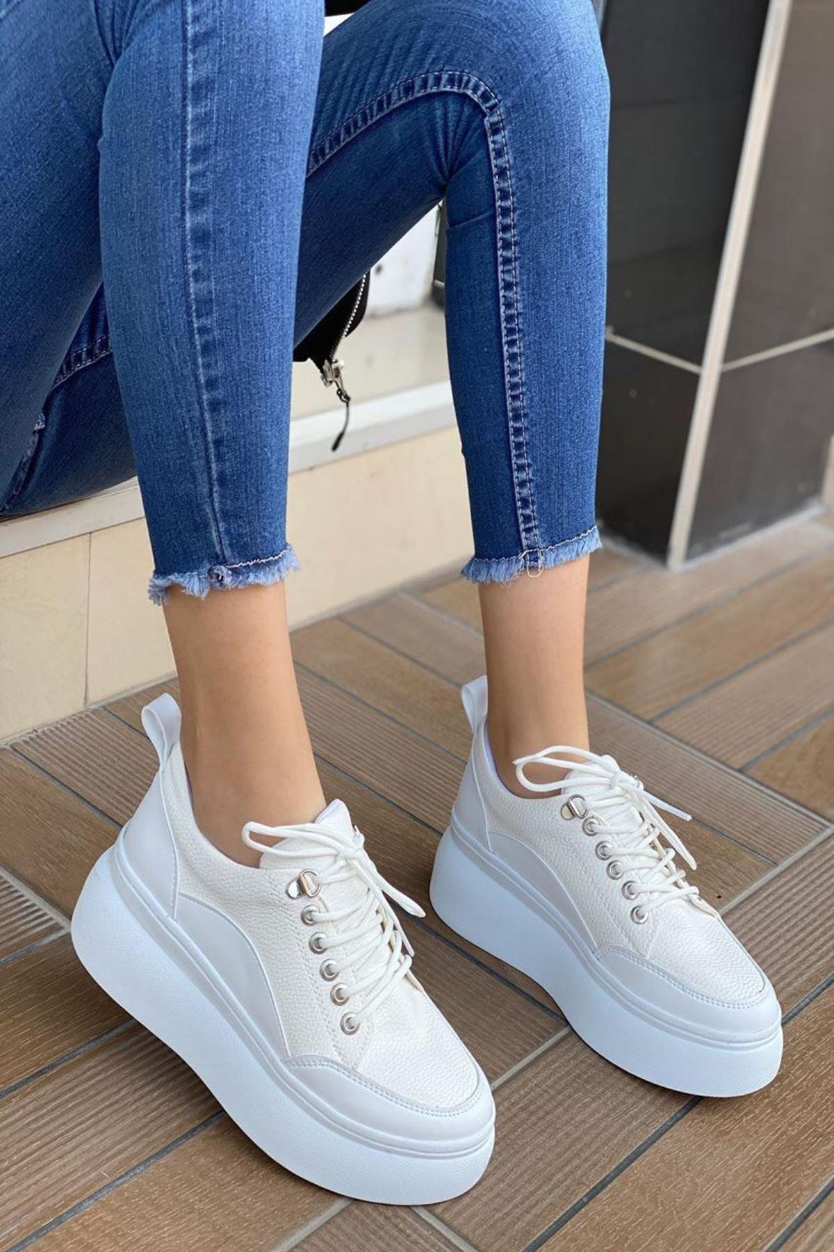 Kadın Enra Beyaz Spor Ayakkabı