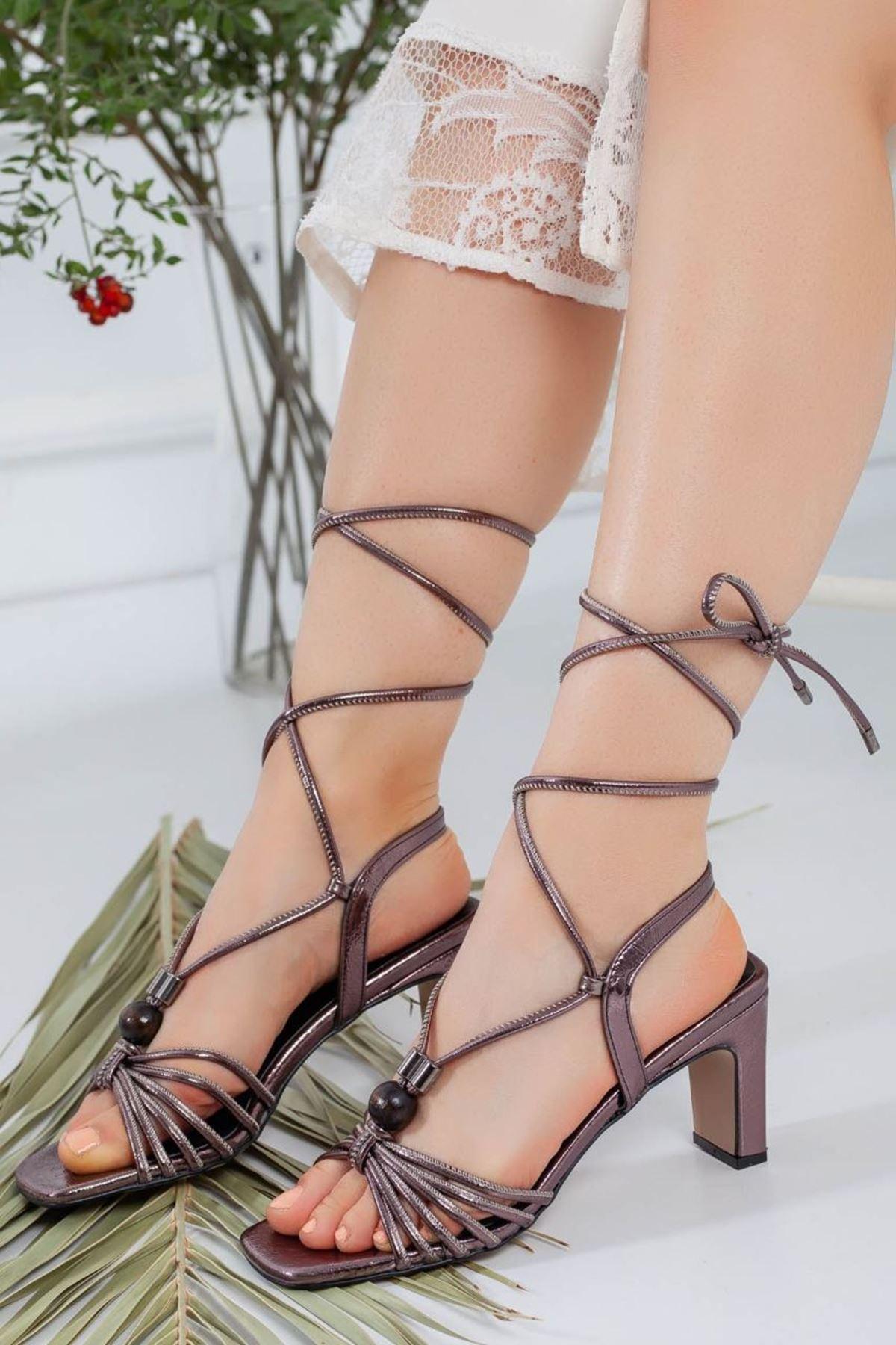 Kadın Bestia Platin Topuklu Ayakkabı
