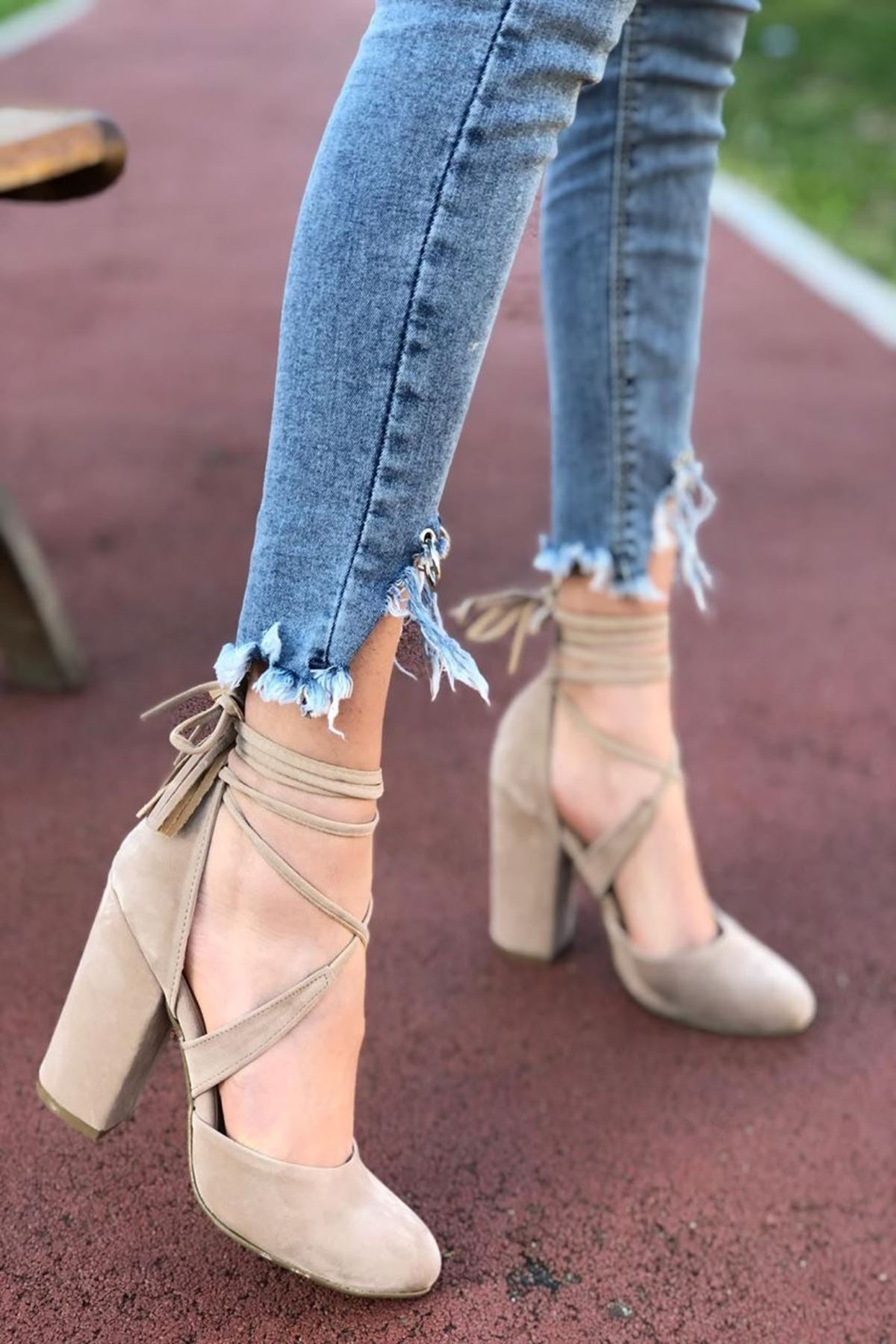 Kadın Percy Bej Topuklu Ayakkabı