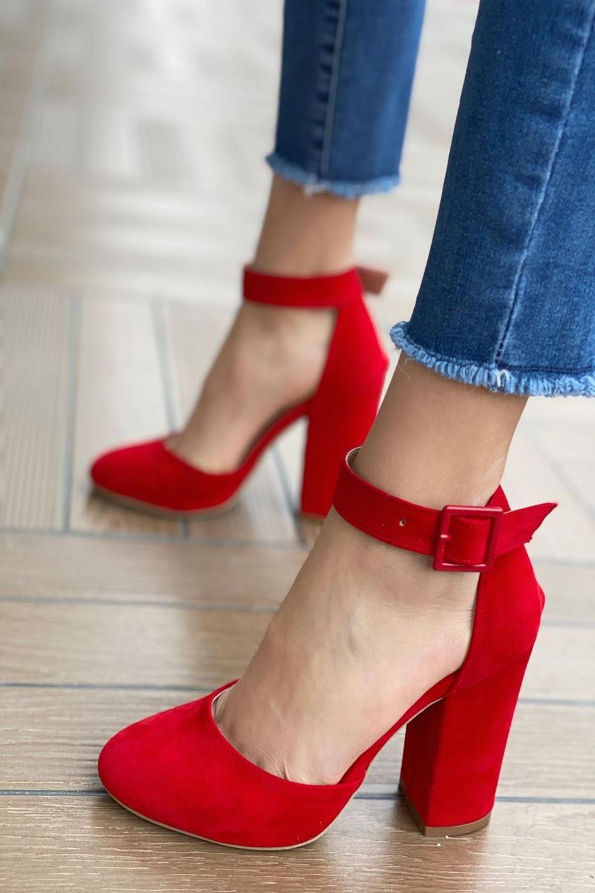 Kadın Berland Kırmızı Topuklu Ayakkabı