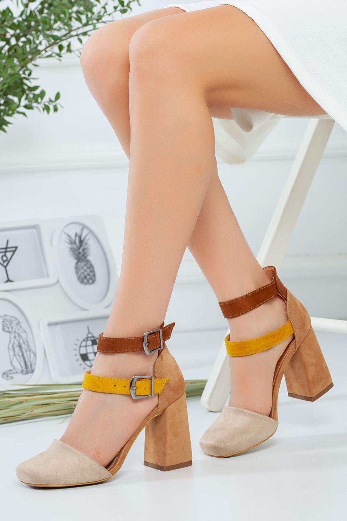 Kadın Narvi Vizon Topuklu Ayakkabı