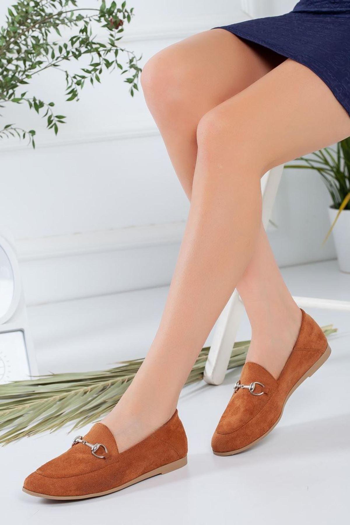 Kadın Dita Taba Süet Günlük Ayakkabı