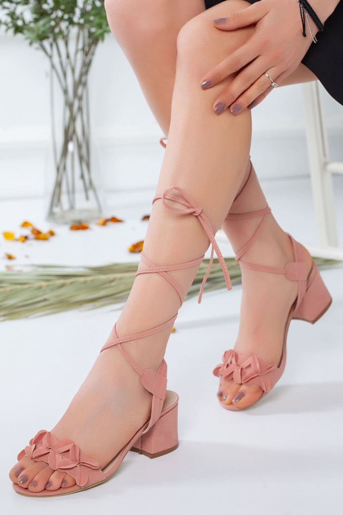 Kadın Juliet Pudra Topuklu Ayakkabı