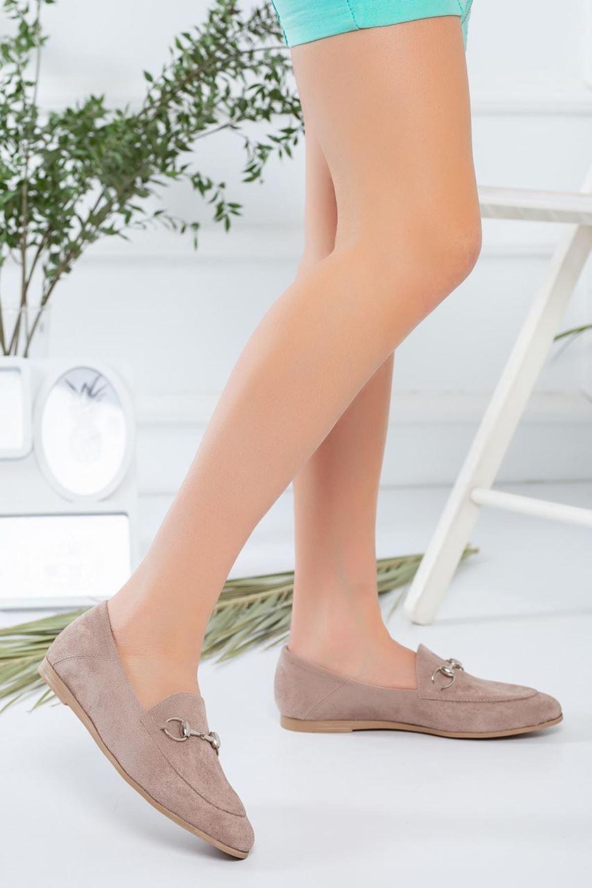 Kadın Dita Vizon Süet Günlük Ayakkabı