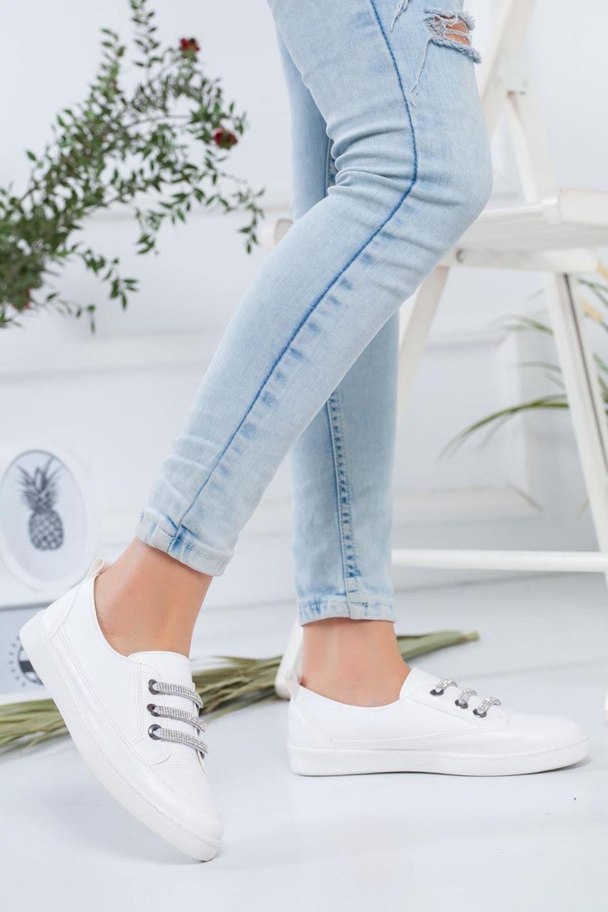Kadın Indie Beyaz Günlük Ayakkabı