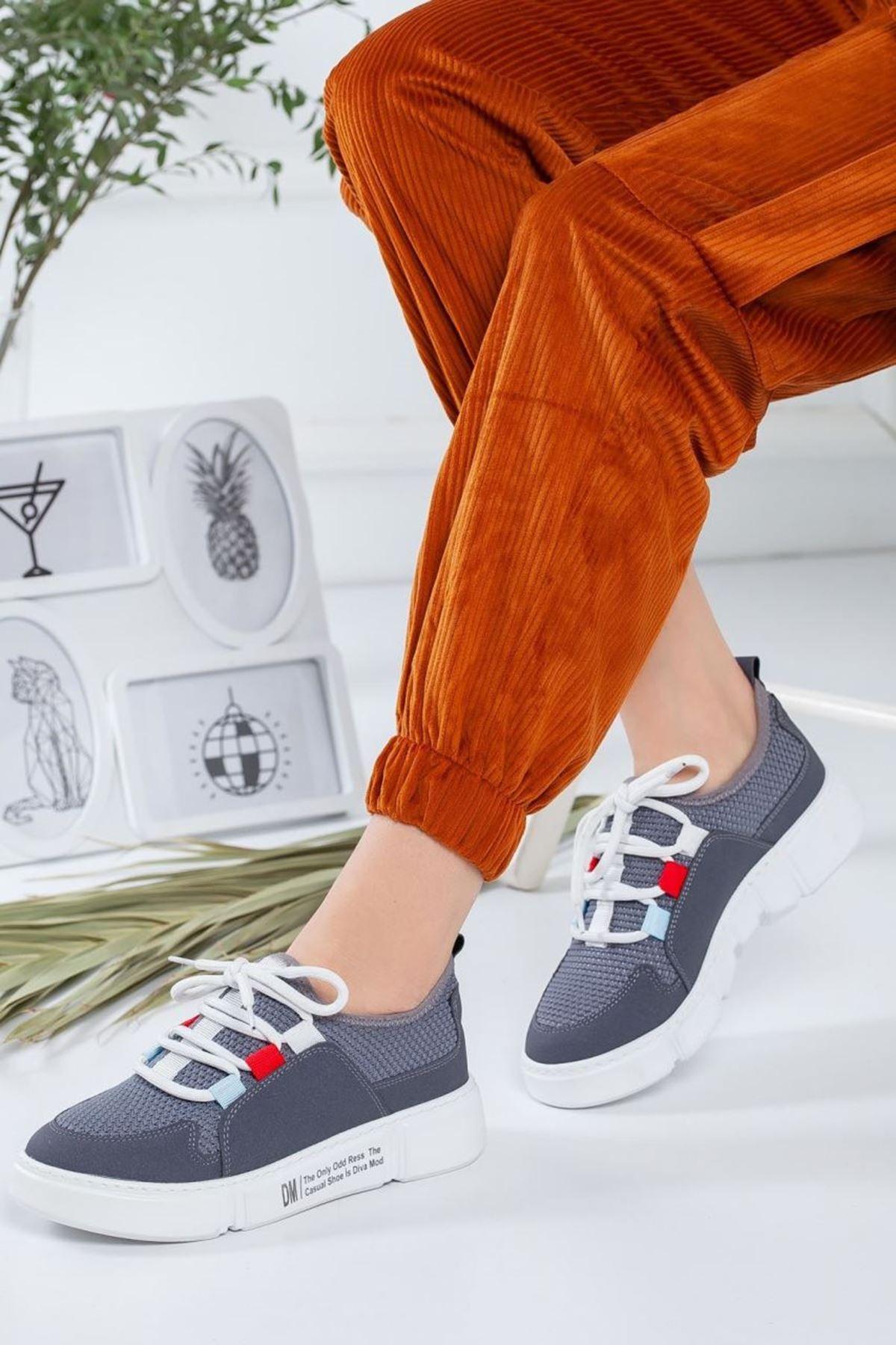 Kadın Nabel Gri Günlük Ayakkabı