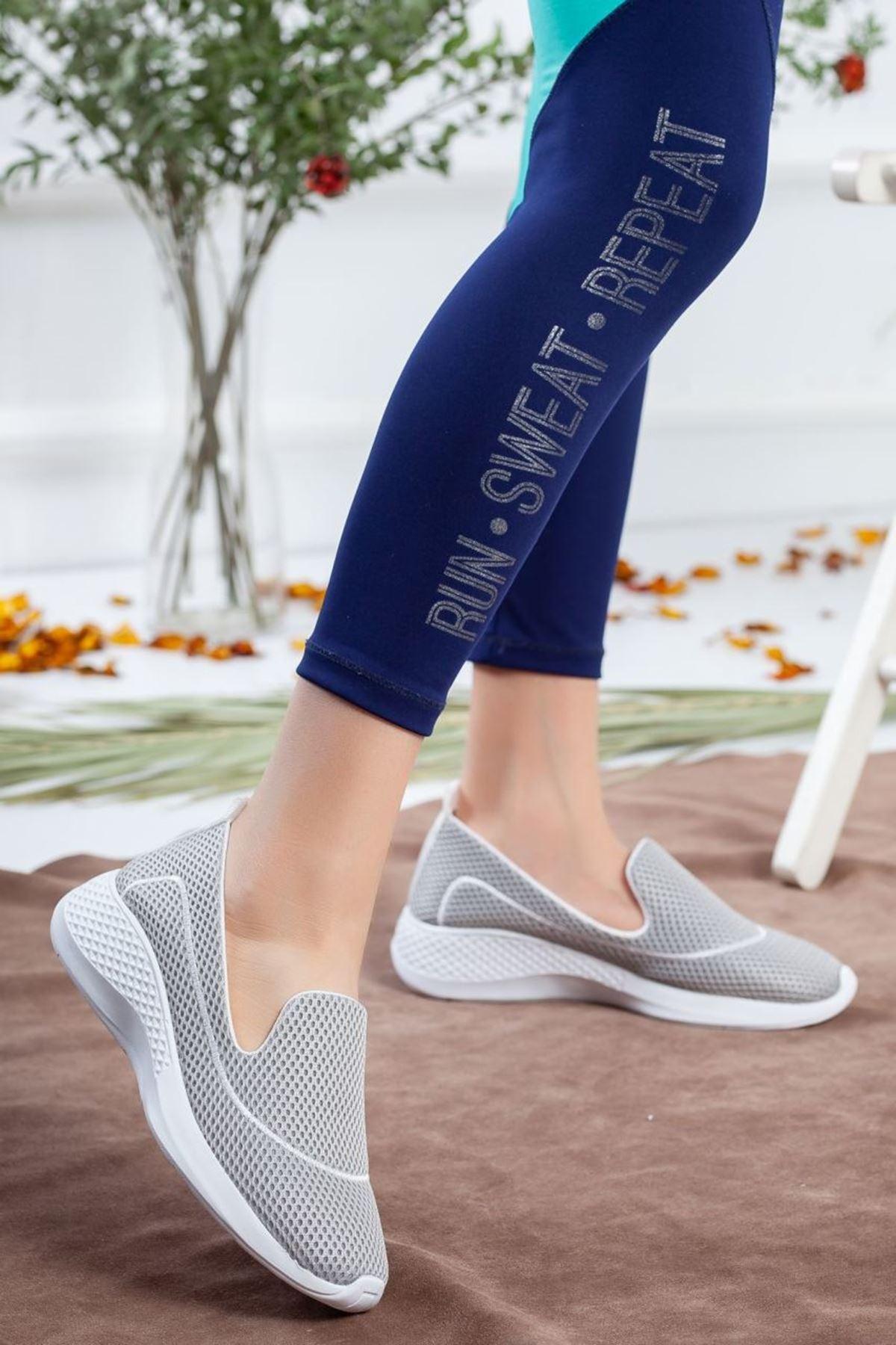 Kadın Oranto Günlük Spor Ayakkabı Gri
