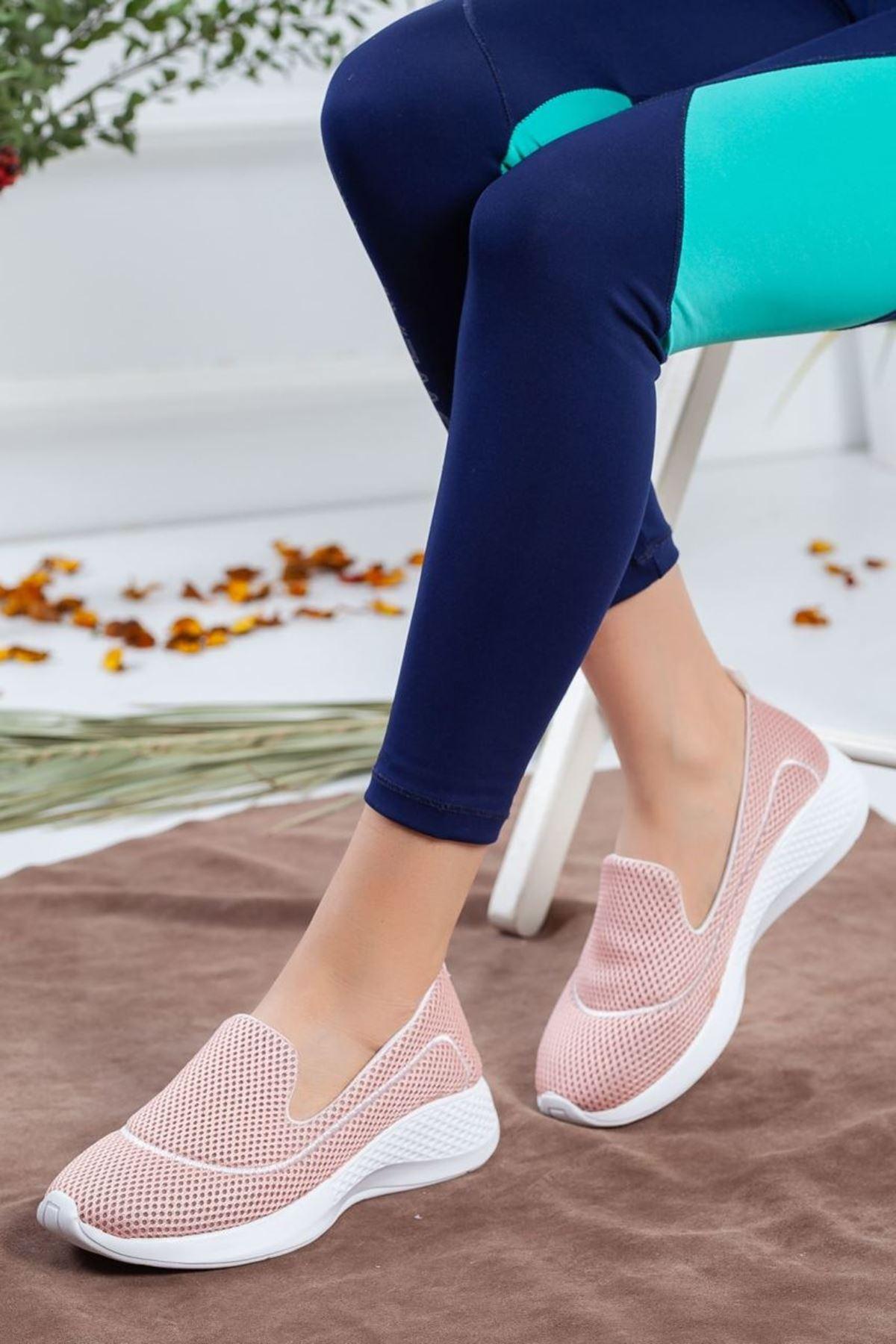 Kadın Oranto Günlük Spor Ayakkabı Pudra