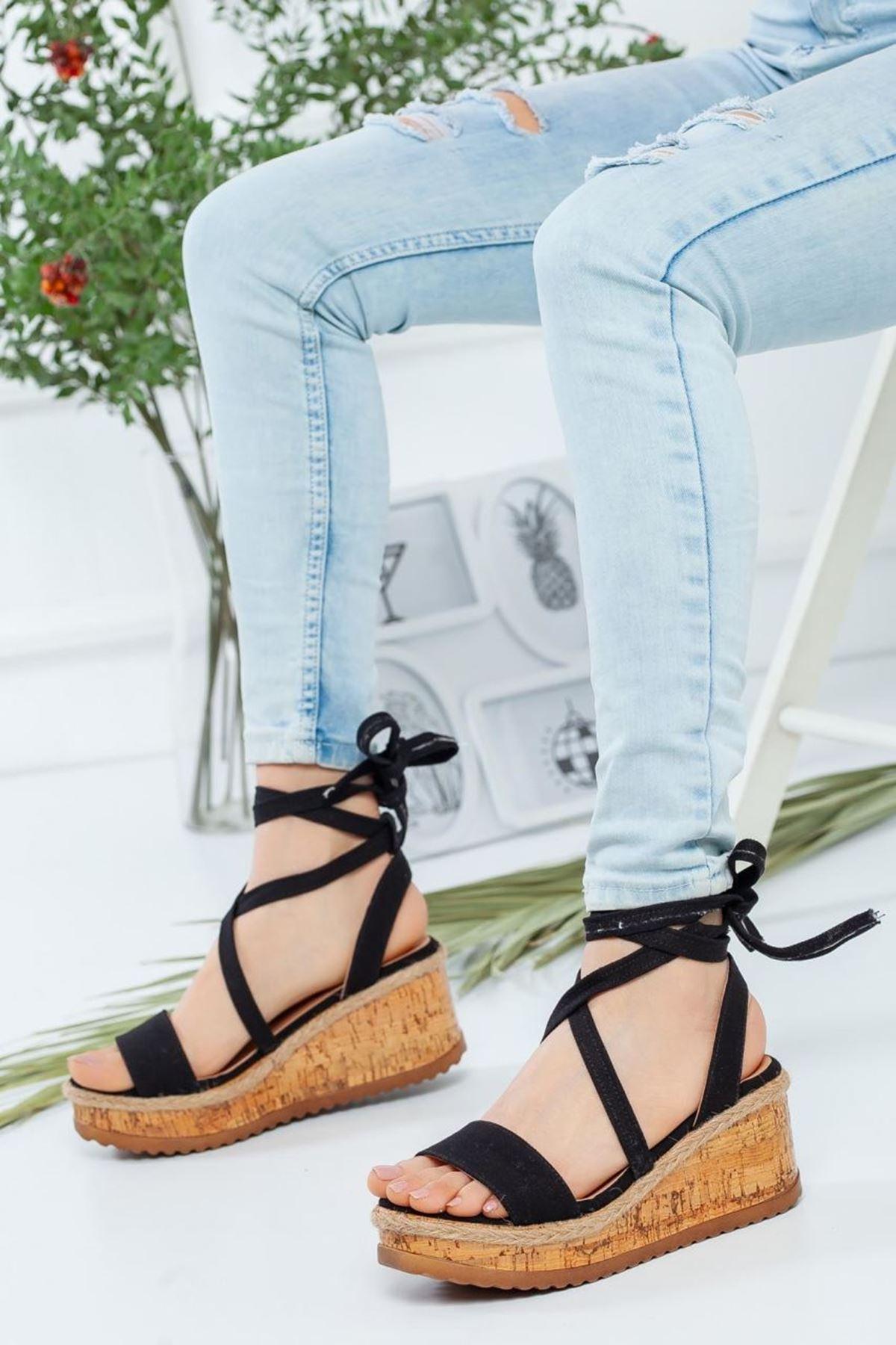 Kadın Grape Siyah Sandalet