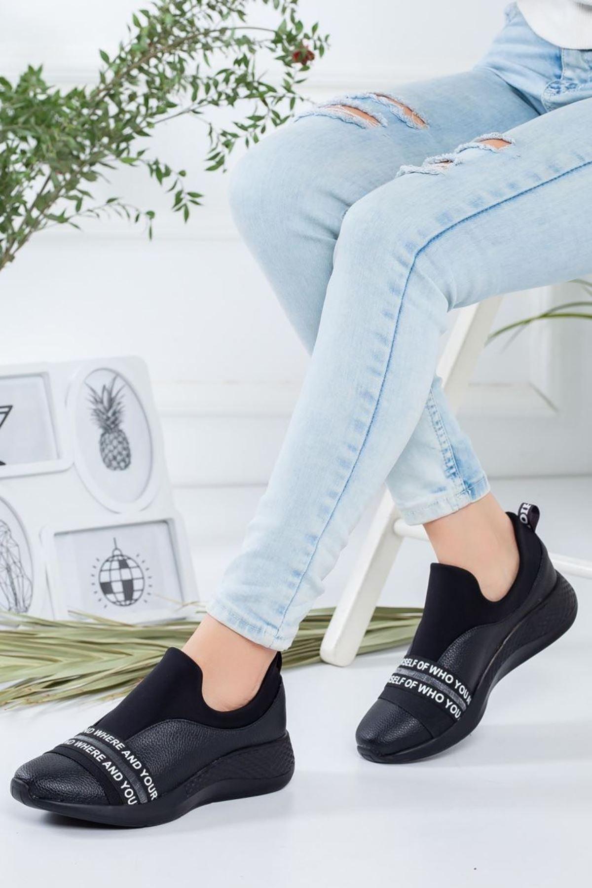 Kadın Desta Siyah Günlük Ayakkabı
