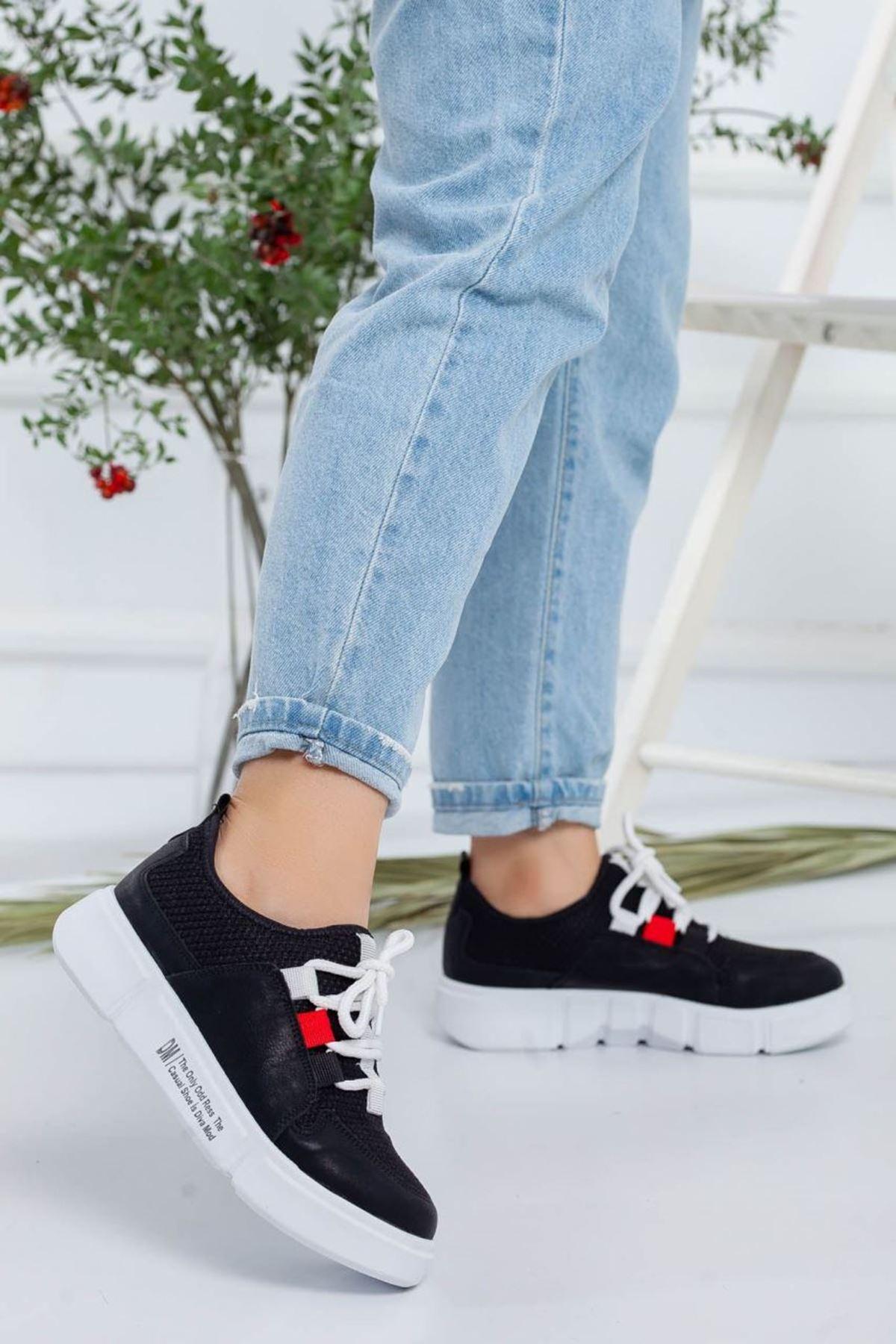 Kadın Nabel Siyah Günlük Ayakkabı