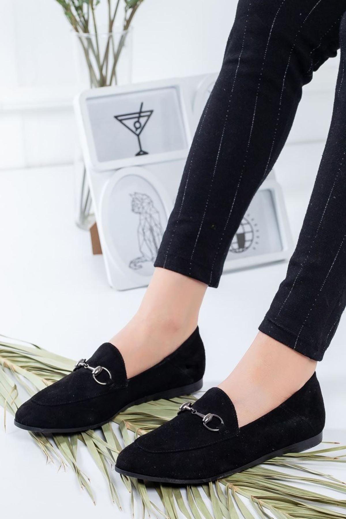 Kadın Dita Siyah Süet Günlük Ayakkabı