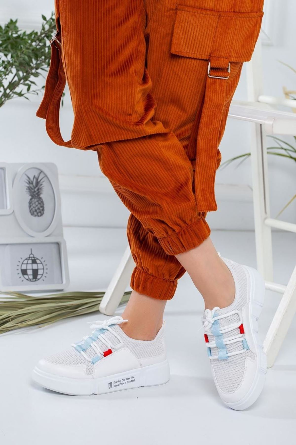 Kadın Nabel Beyaz Günlük Ayakkabı