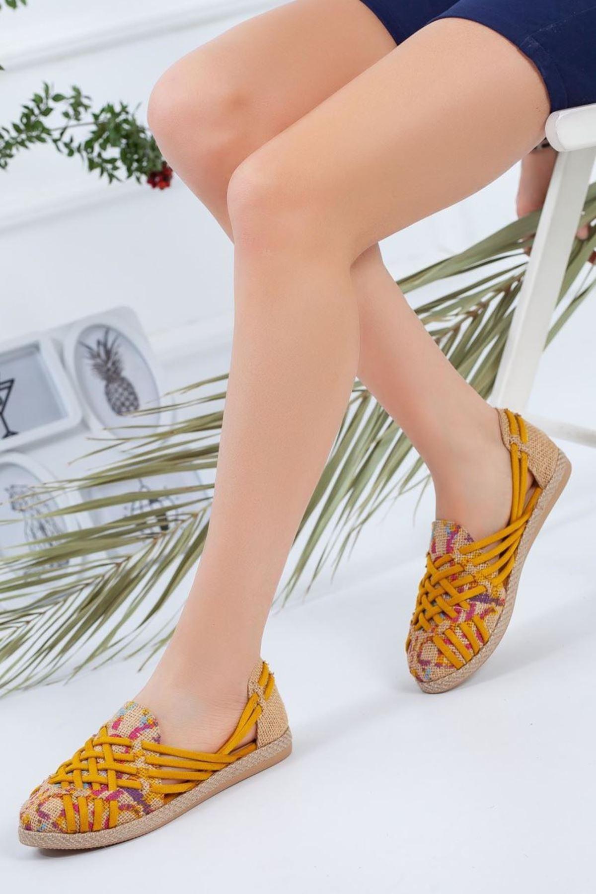 Kadın Atlas Hardal Günlük Ayakkabı