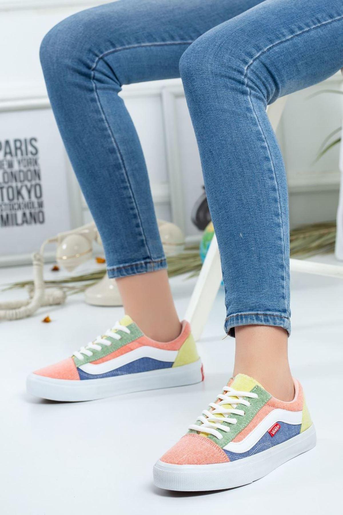 Kadın Vans Spor Ayakkabı Renkli