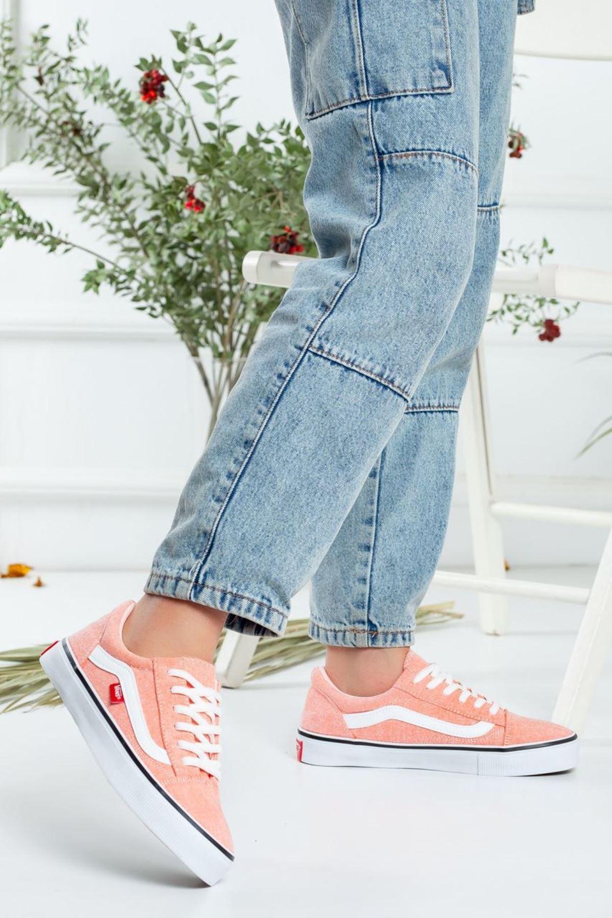 Kadın Vans Spor Ayakkabı Pudra