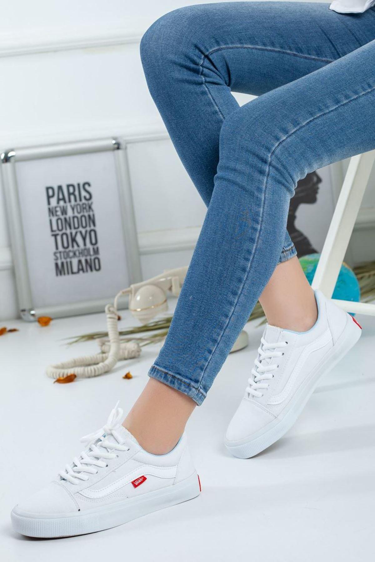Kadın Vans Spor Ayakkabı Beyaz