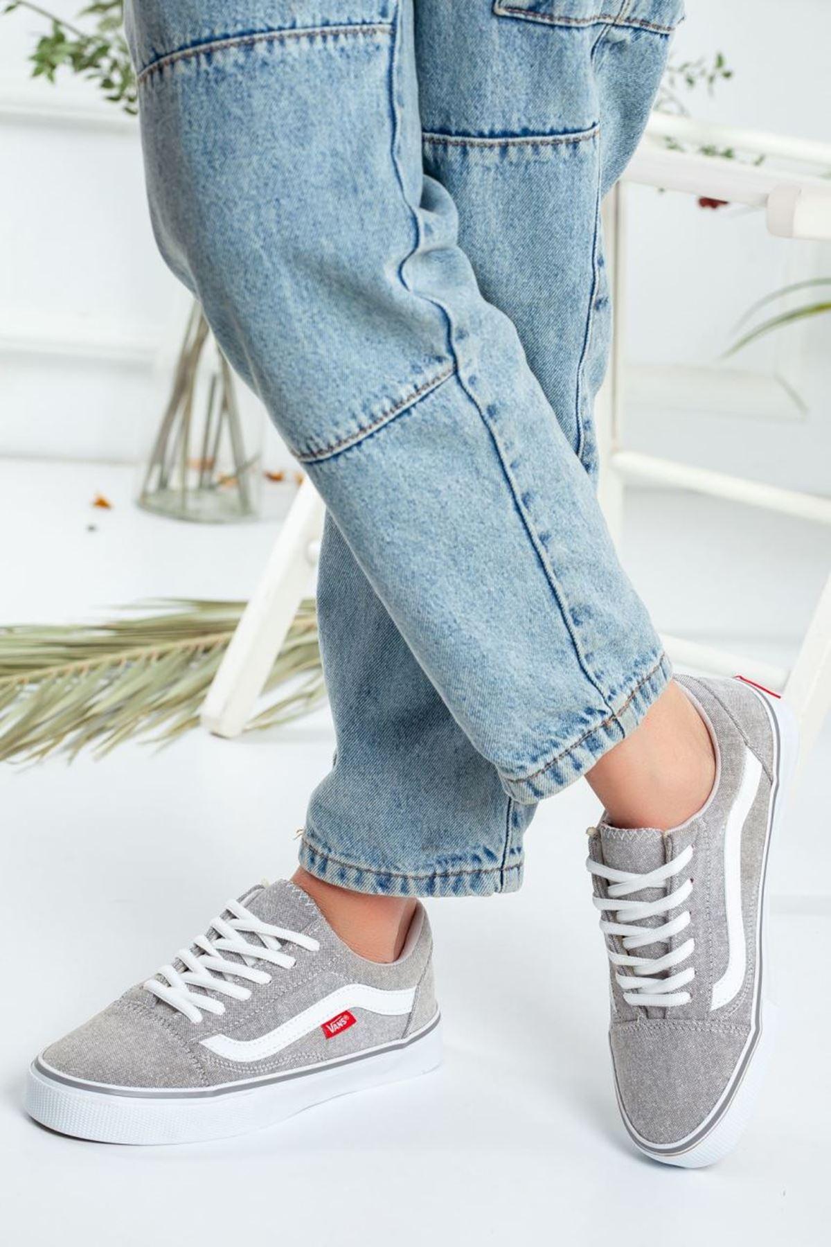 Kadın Vans Spor Ayakkabı Gri