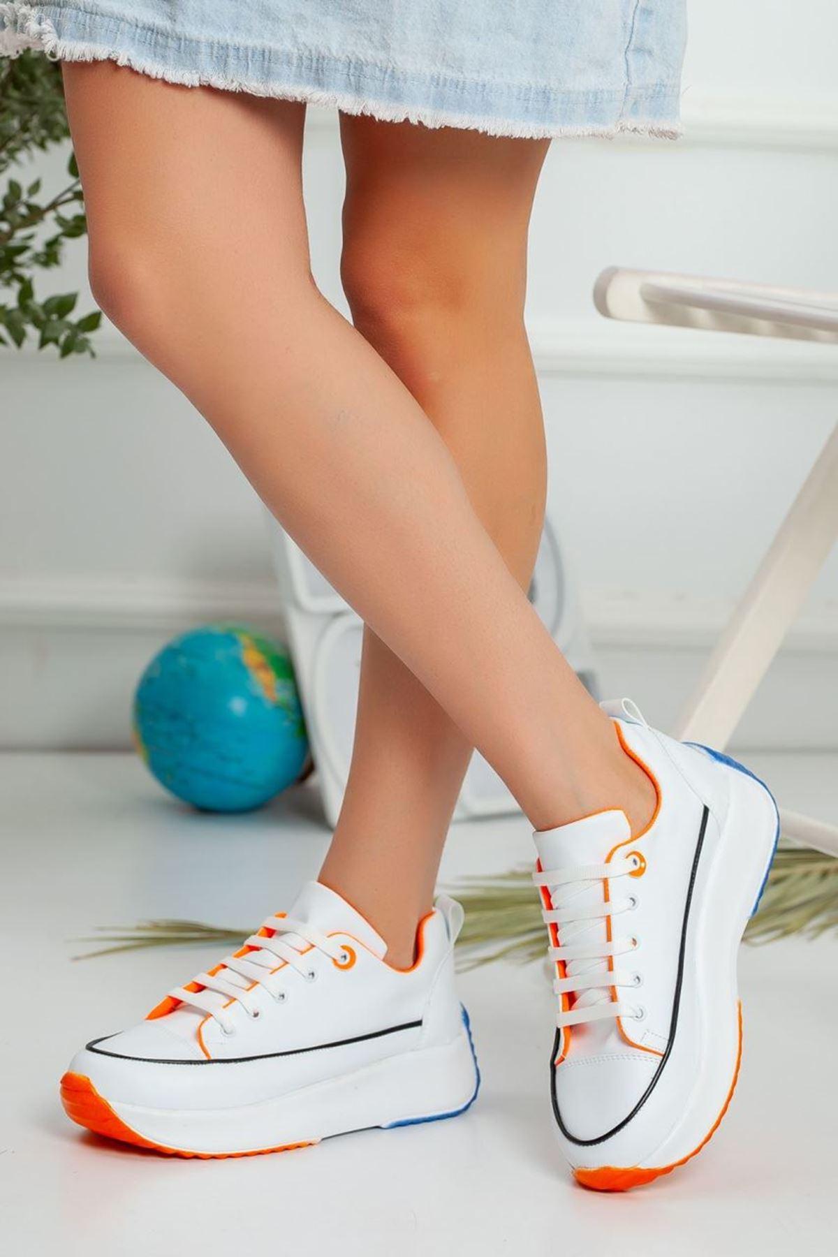 Kadın Casper Kalın Taban Spor Ayakkabı Beyaz