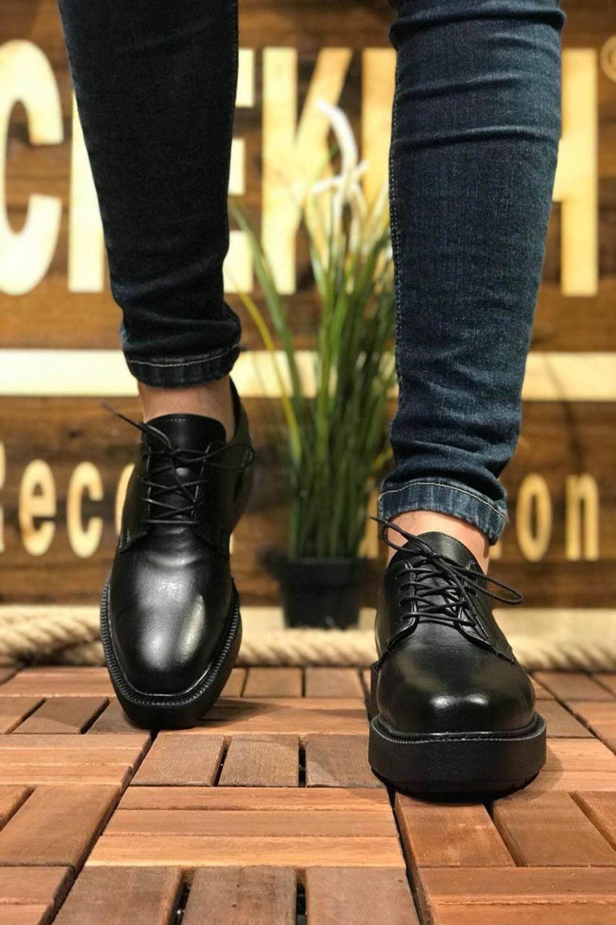 Steven Erkek Ayakkabı CH001F25124-SİYAH