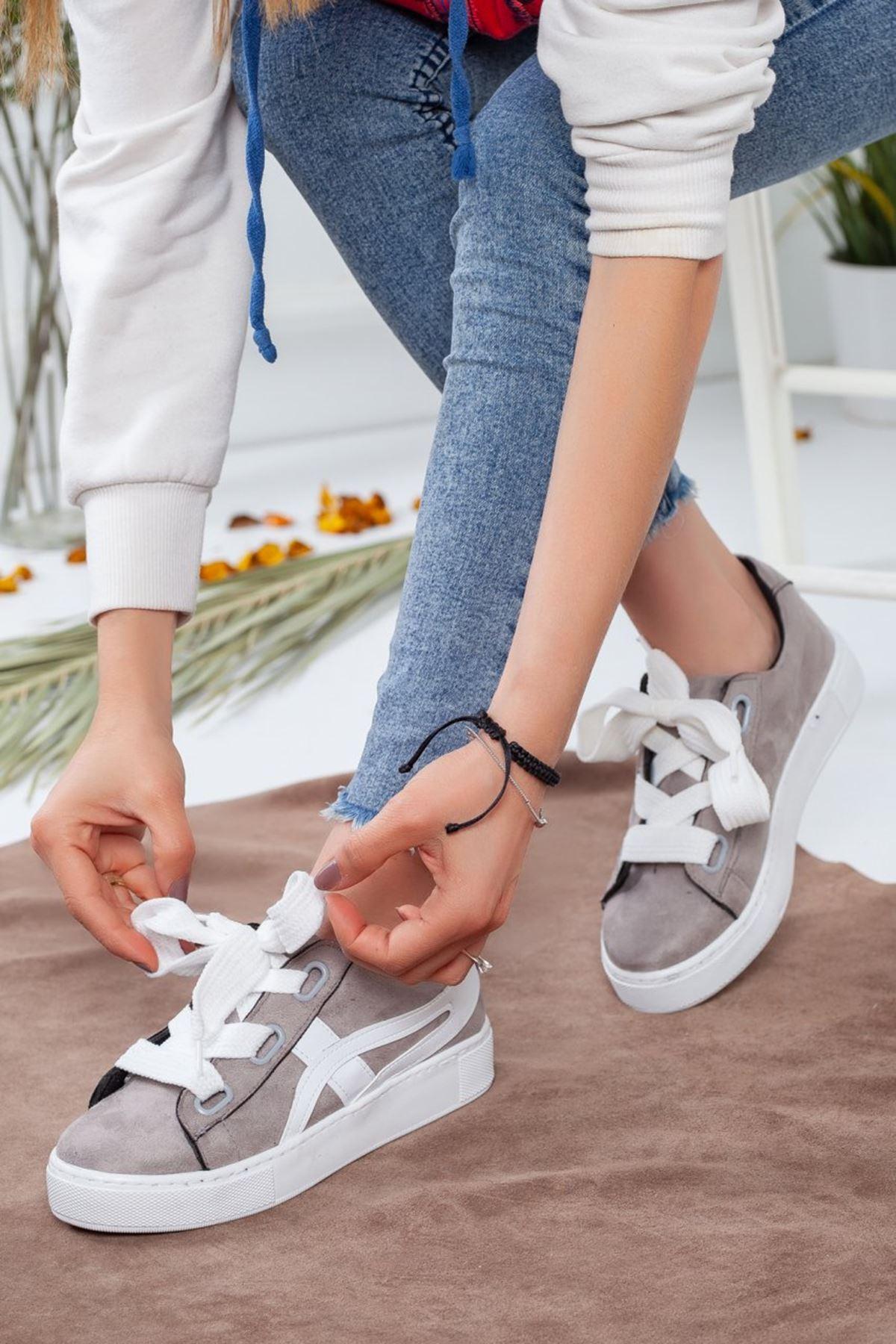 Kadın Salind Spor Ayakkabı Gri Beyaz