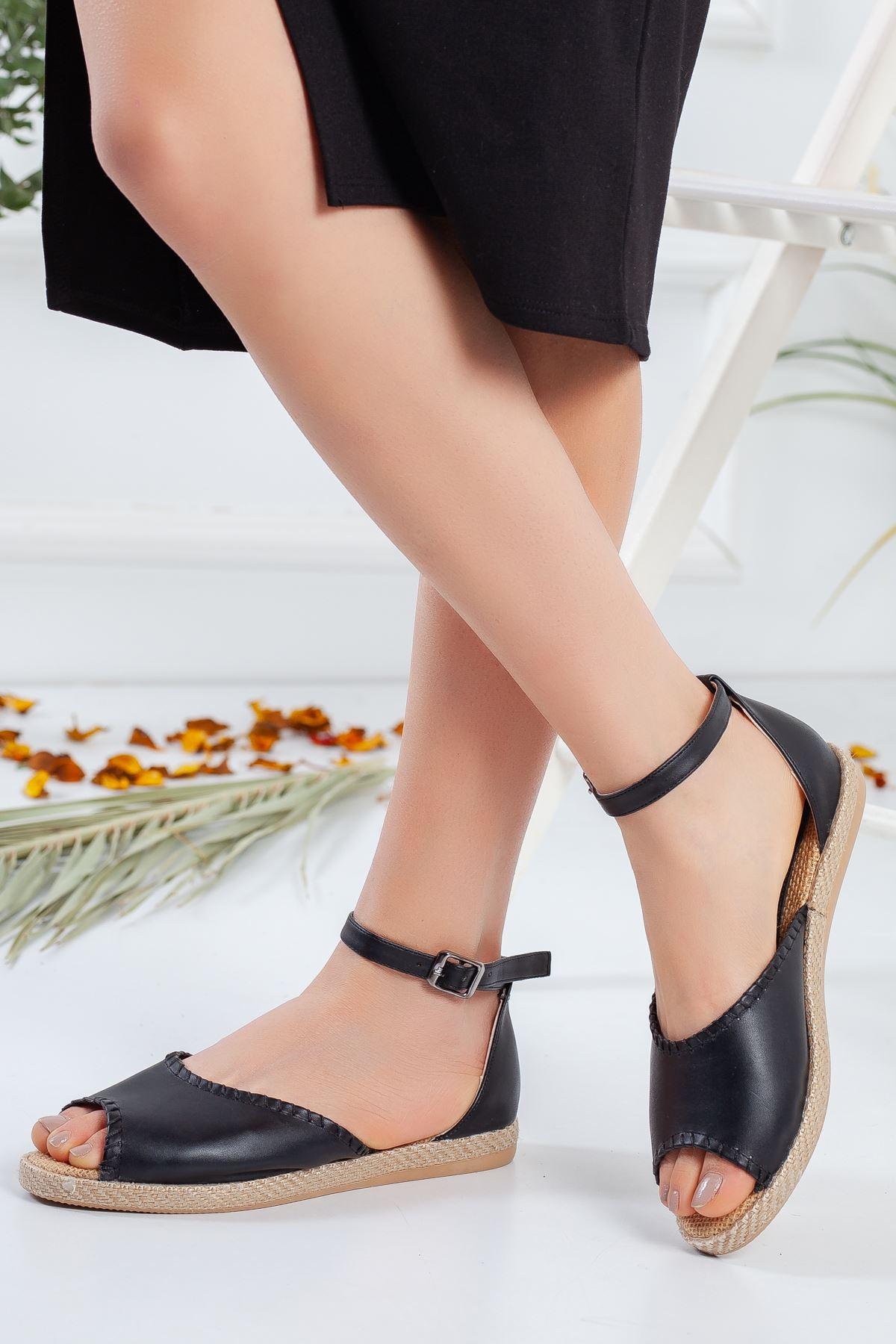 Kadın Lima Mat Deri Dikiş Detay Kadın Günlük Ayakkabı Siyah