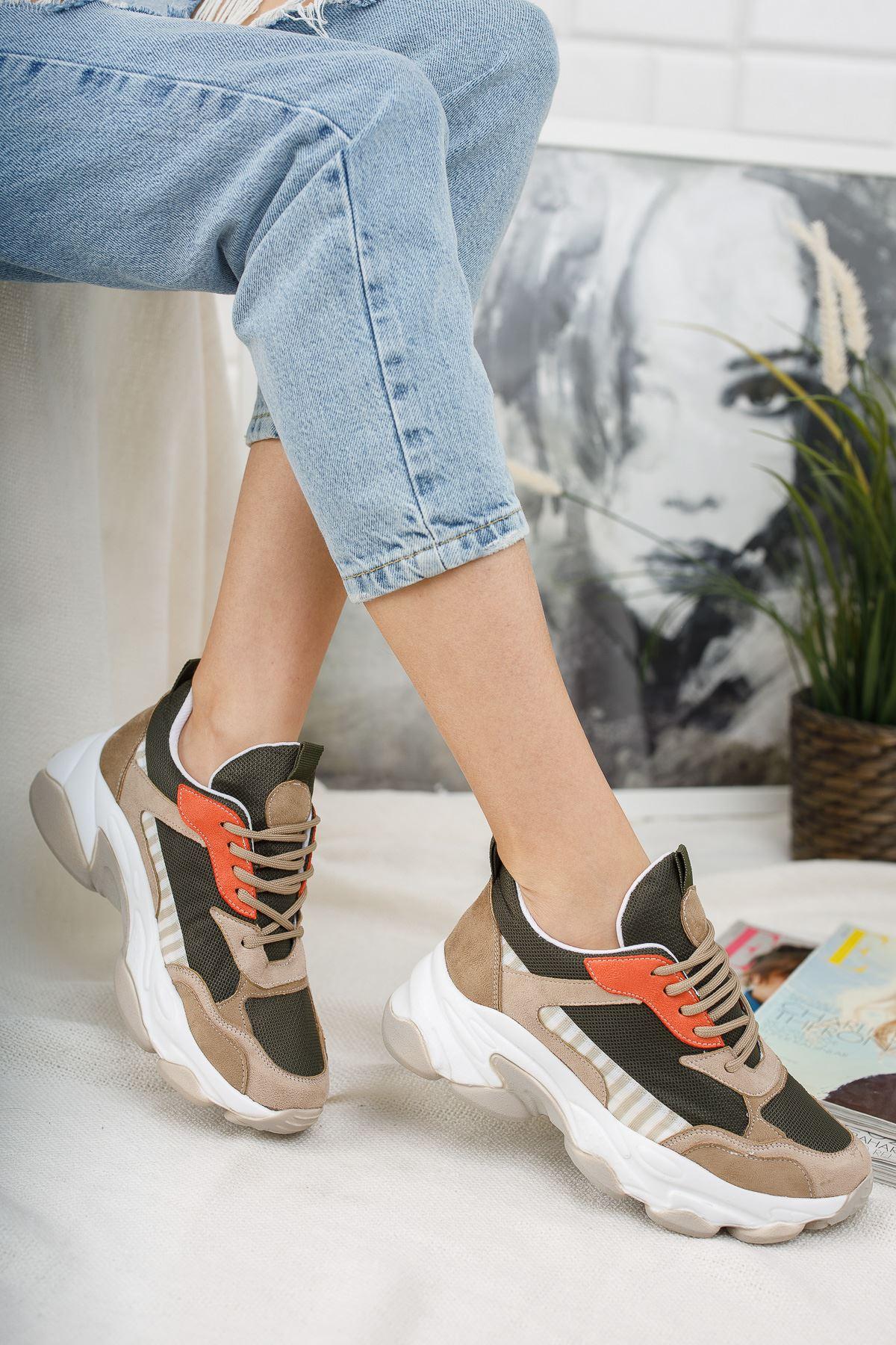 Kadın Reborn Kahve Sneakers Ayakkabısı