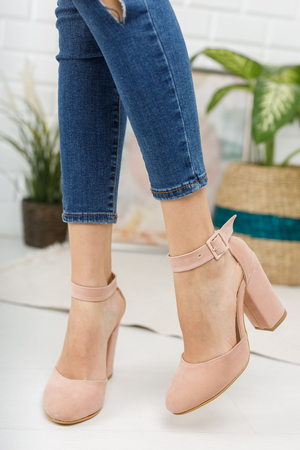 Kadın Berland Pudra Topuklu Ayakkabı