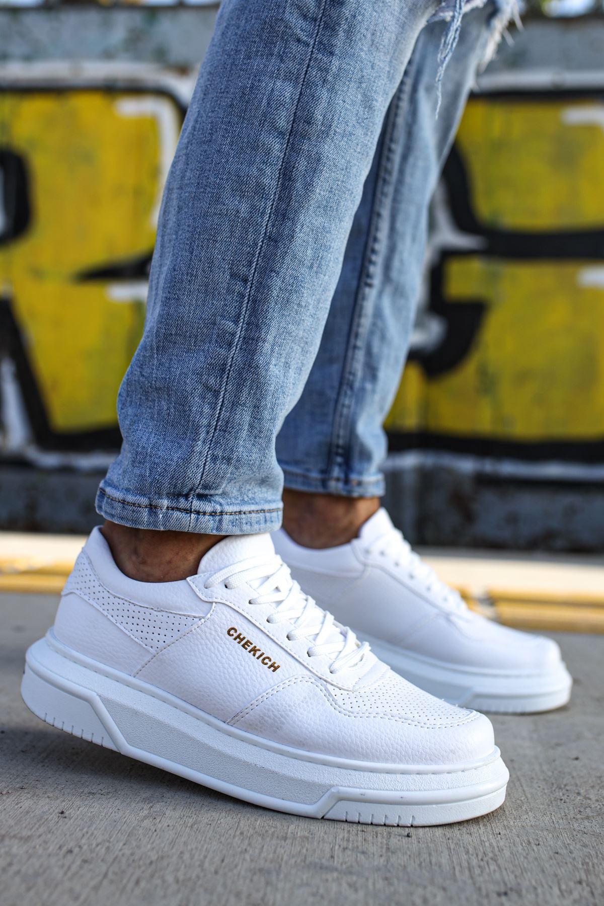 Chekich CH075 Beyaz Taban Erkek Ayakkabı BEYAZ