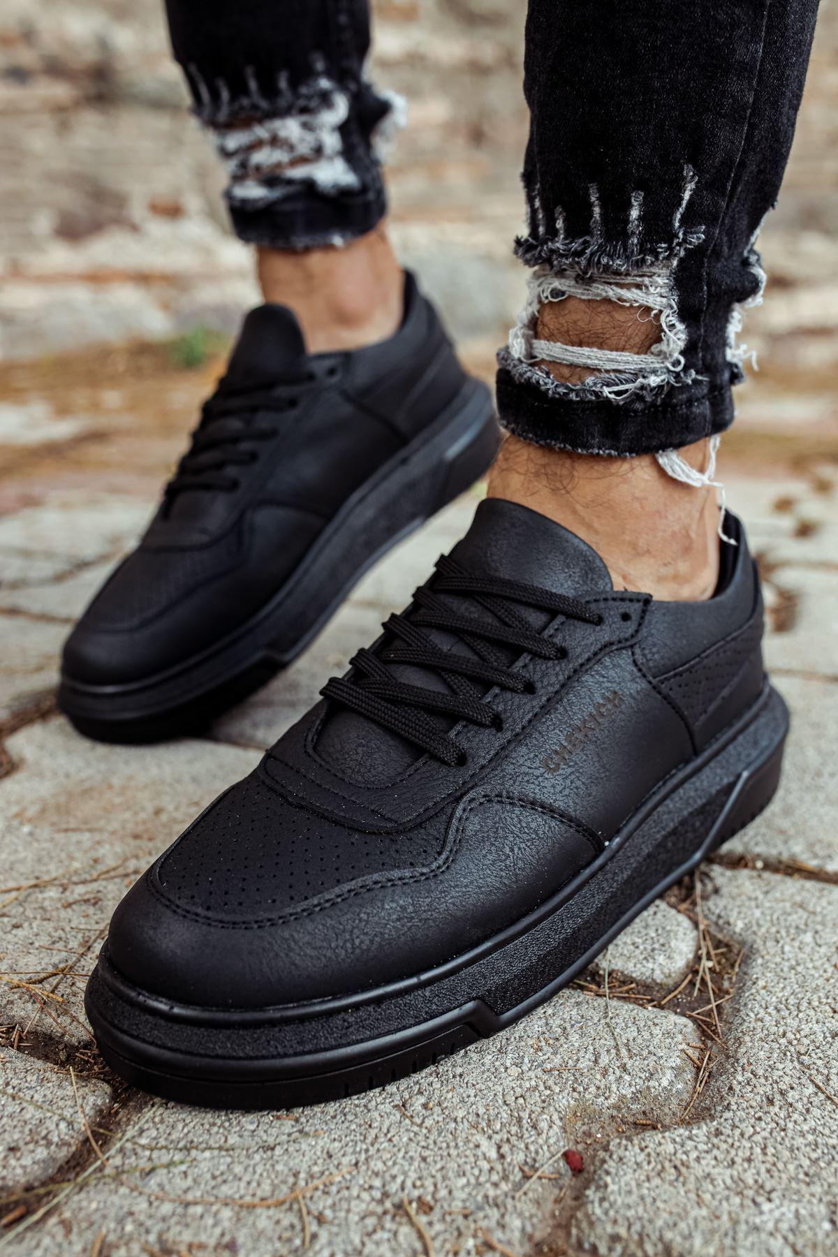 Chekich CH075 Siyah Taban Erkek Ayakkabı SIYAH