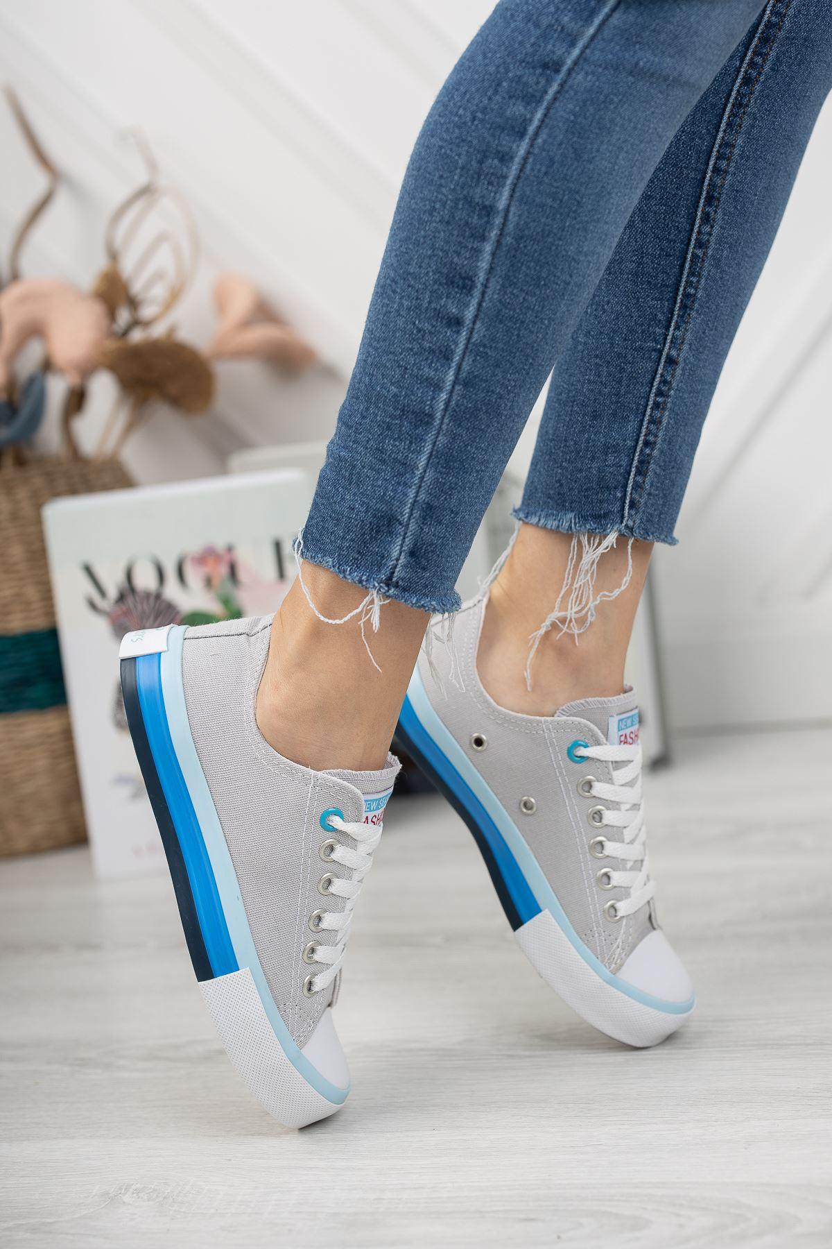 Kadın Yassen Gri Spor Ayakkabı