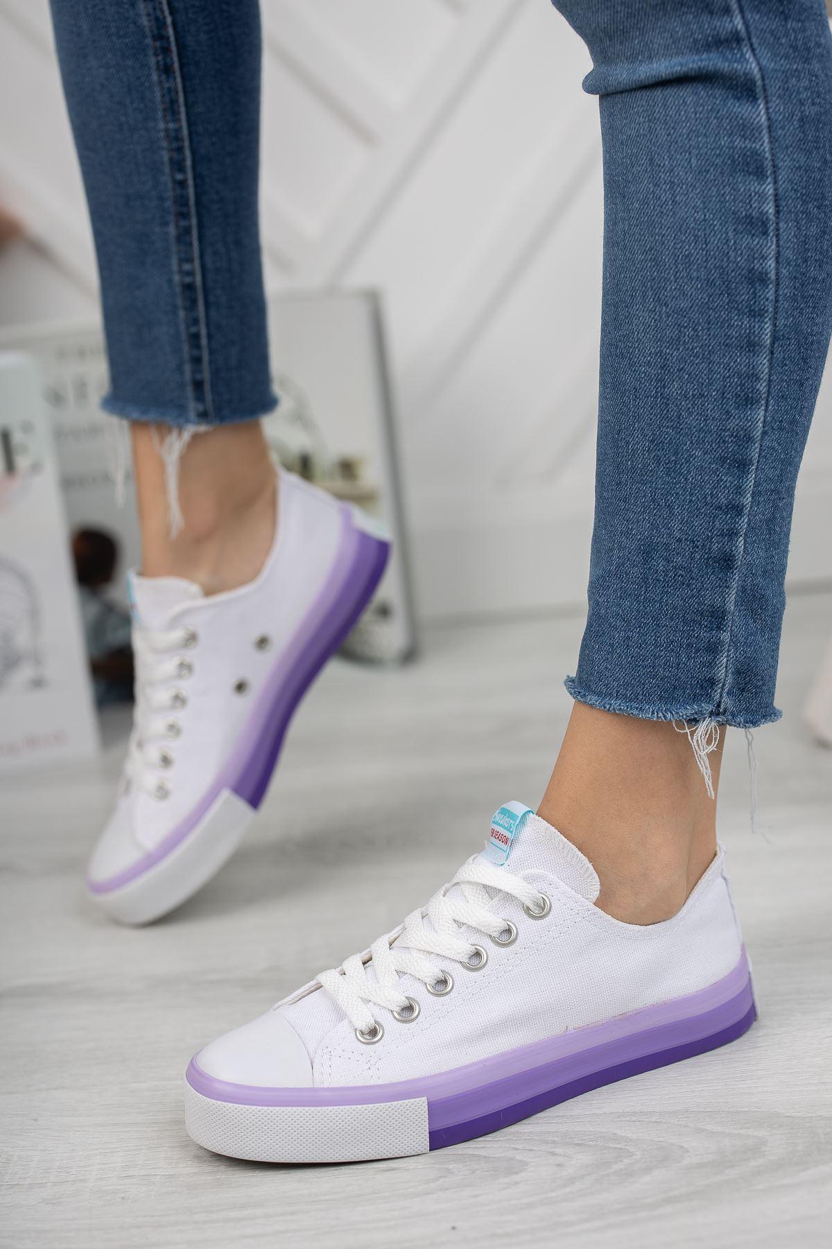 Kadın Yassen Beyaz Spor Ayakkabı