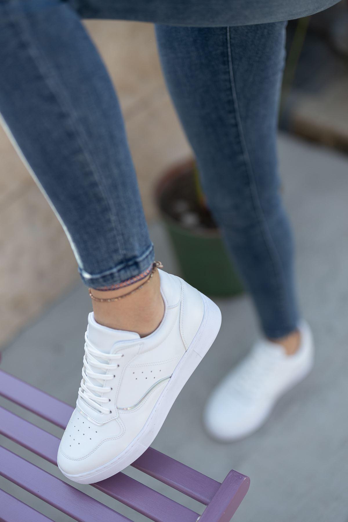 Kadın Ramy Düz Beyaz Spor Ayakkabı