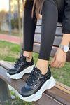 Kadın Skol Siyah Sneakers Ayakkabı