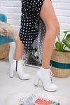 Kadın Monica Plarform Taban Mat Deri Beyaz Bot