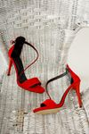Kadın Anta Kırmızı Topuklu Ayakkabı