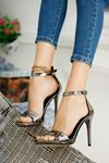 Kadın Anta Platin Topuklu Ayakkabı