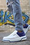 Chekich CH075 Beyaz Taban Erkek Ayakkabı BEYAZ / SAX MAVİ