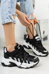 Kadın Sport Kalın Taban Spor Ayakkabı siyah